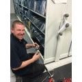Servicing of hospital roller racking